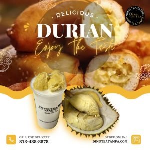 ding-tea-tampa-bubble-tea-tampa-bubble-tea-fl-33604-durian-hollow-donut-durian-smoothie